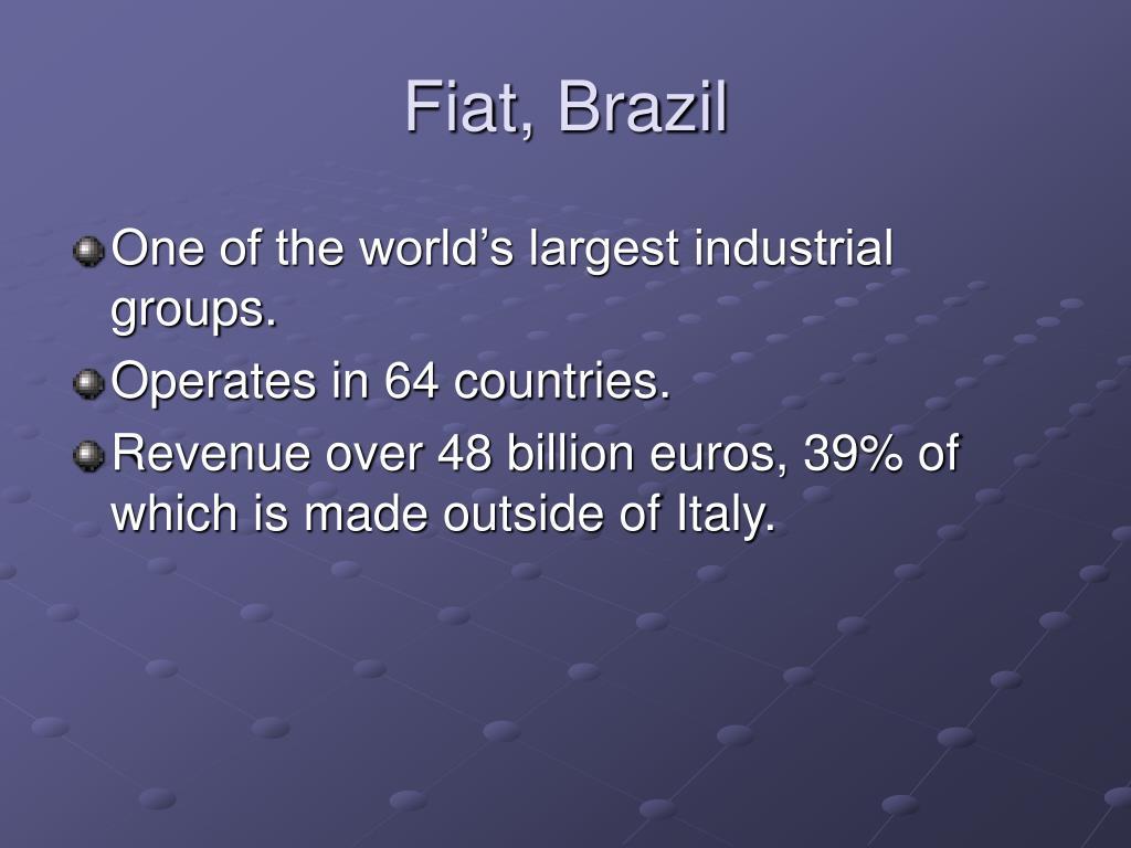 Fiat, Brazil