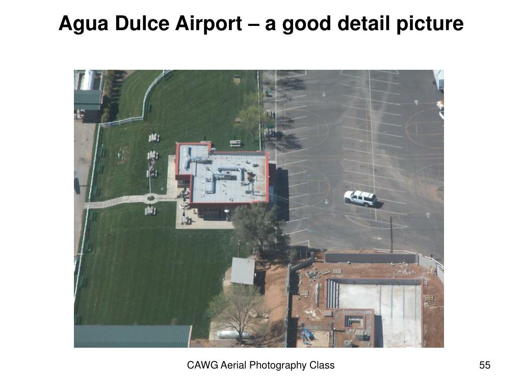 Agua Dulce Airport – a good detail picture