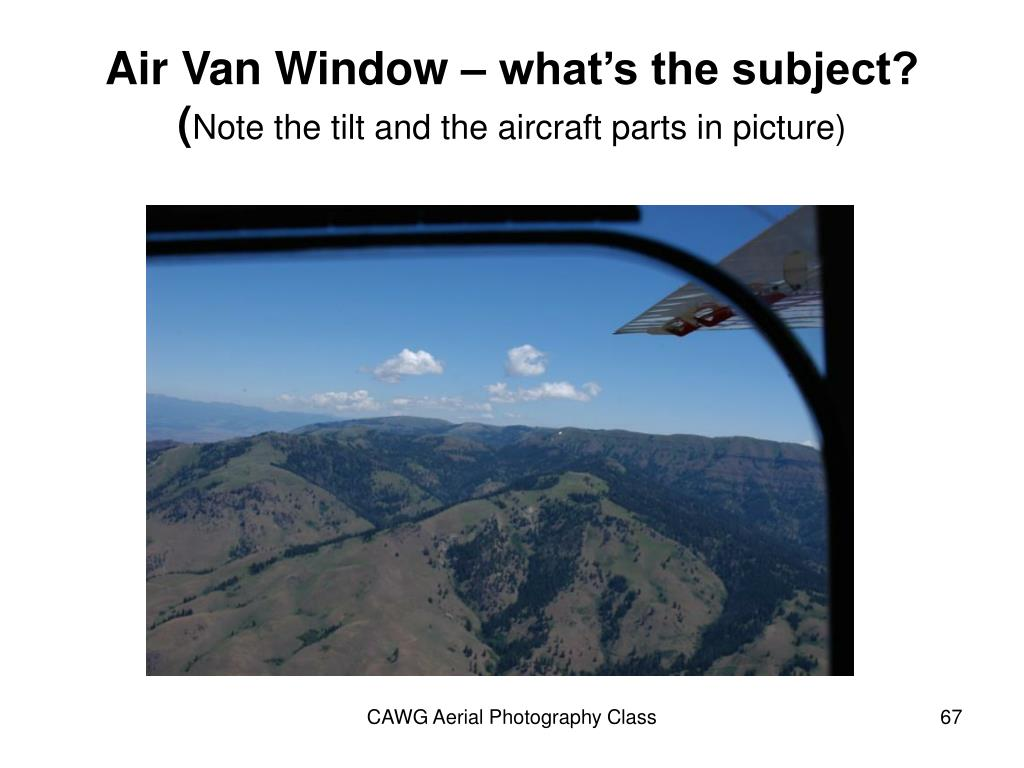 Air Van Window – what's the subject?