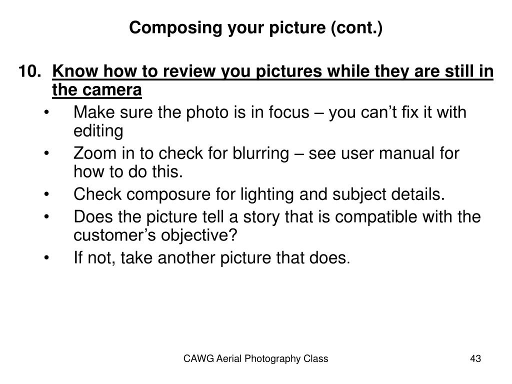 Composing your picture (cont.)