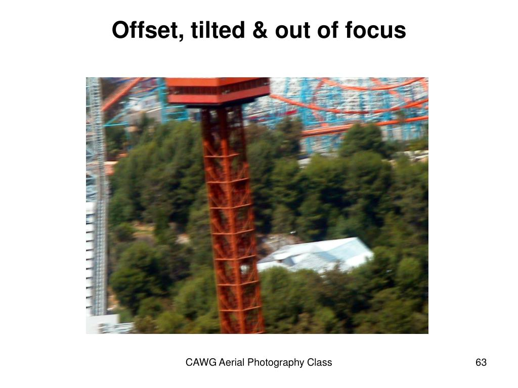 Offset, tilted & out of focus