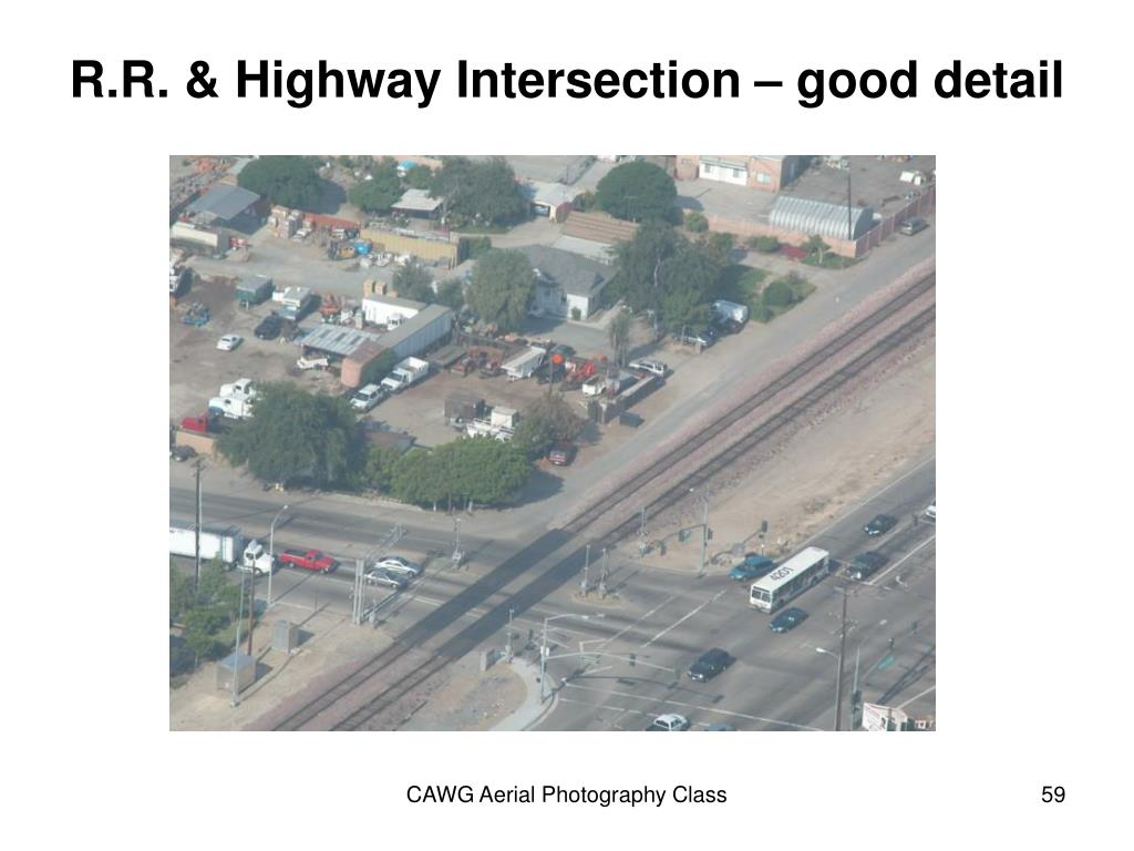 R.R. & Highway Intersection – good detail