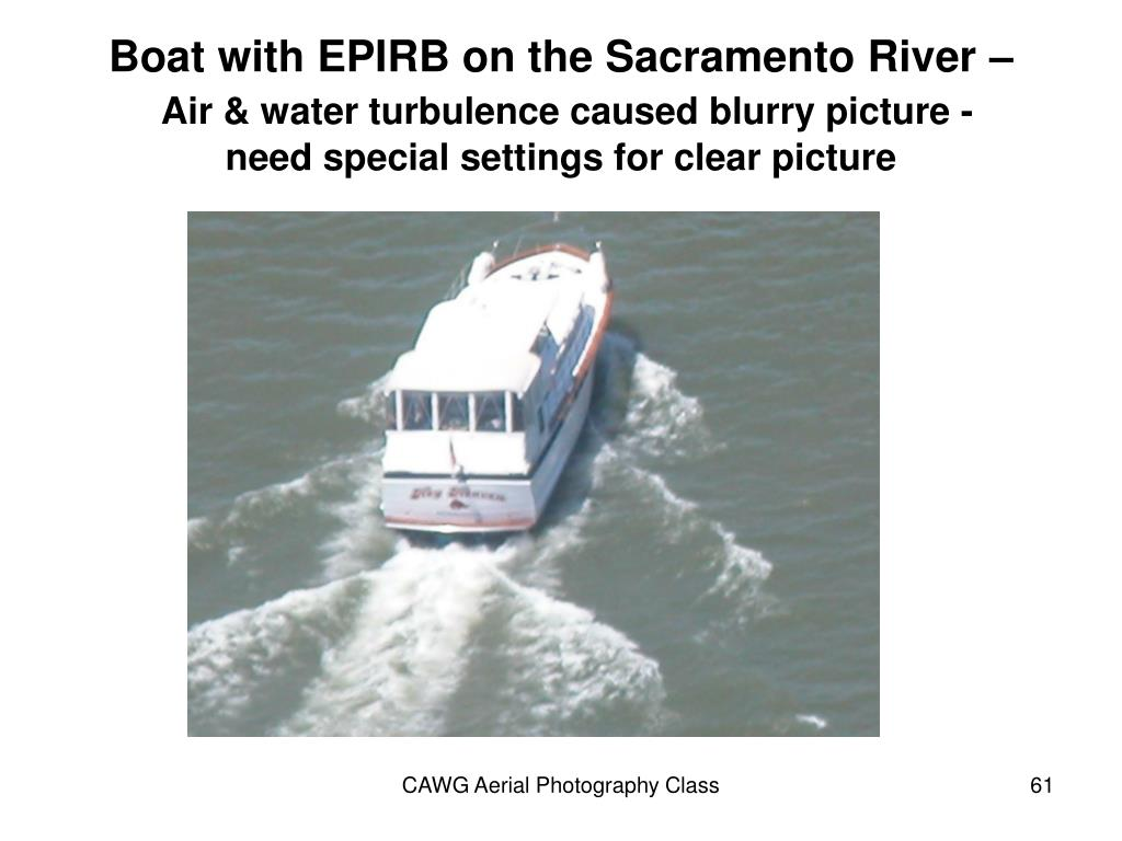 Boat with EPIRB on the Sacramento River –