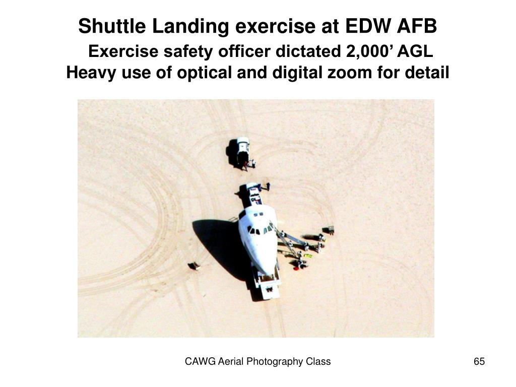 Shuttle Landing exercise at EDW AFB