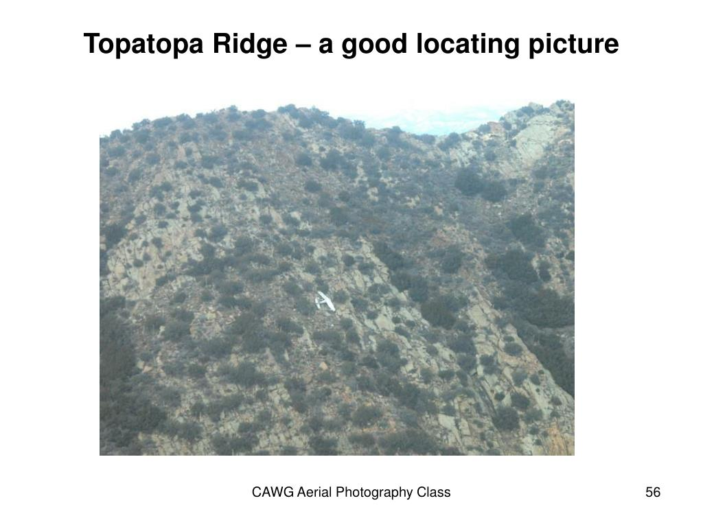Topatopa Ridge – a good locating picture