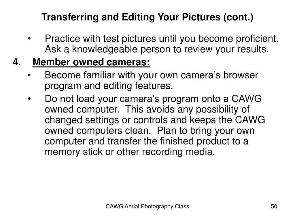 Transferring and Editing Your Pictures (cont.)