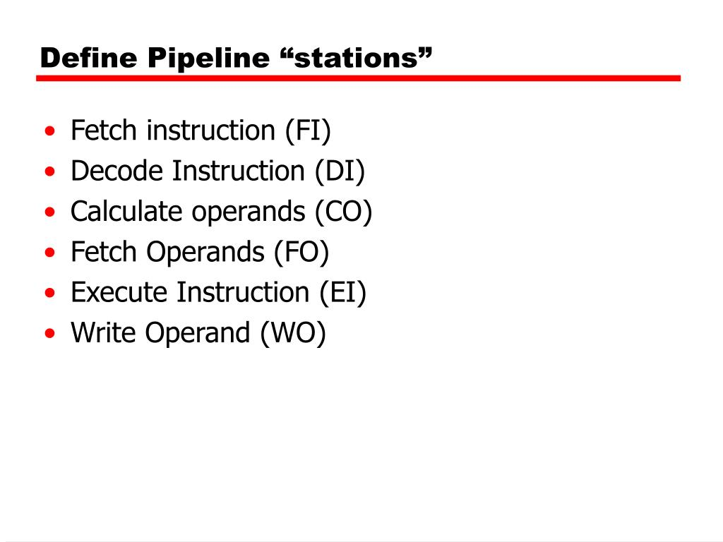 "Define Pipeline ""stations"""