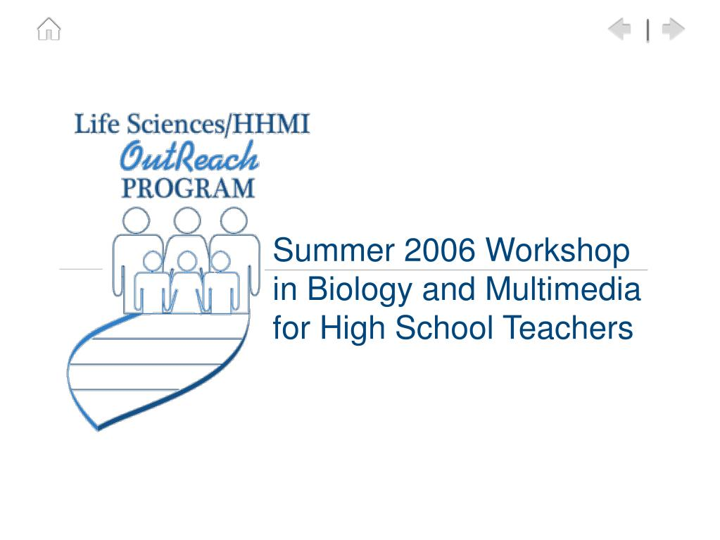 Summer 2006 Workshop