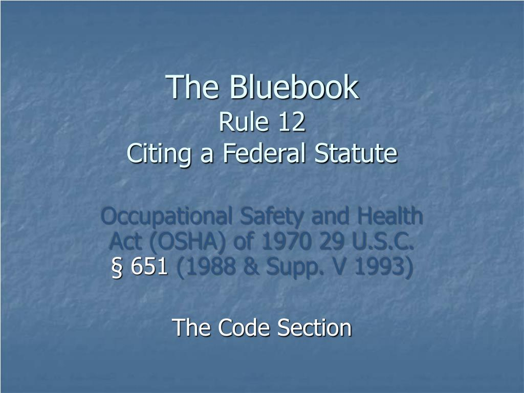 The Bluebook