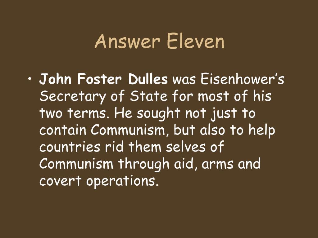 Answer Eleven