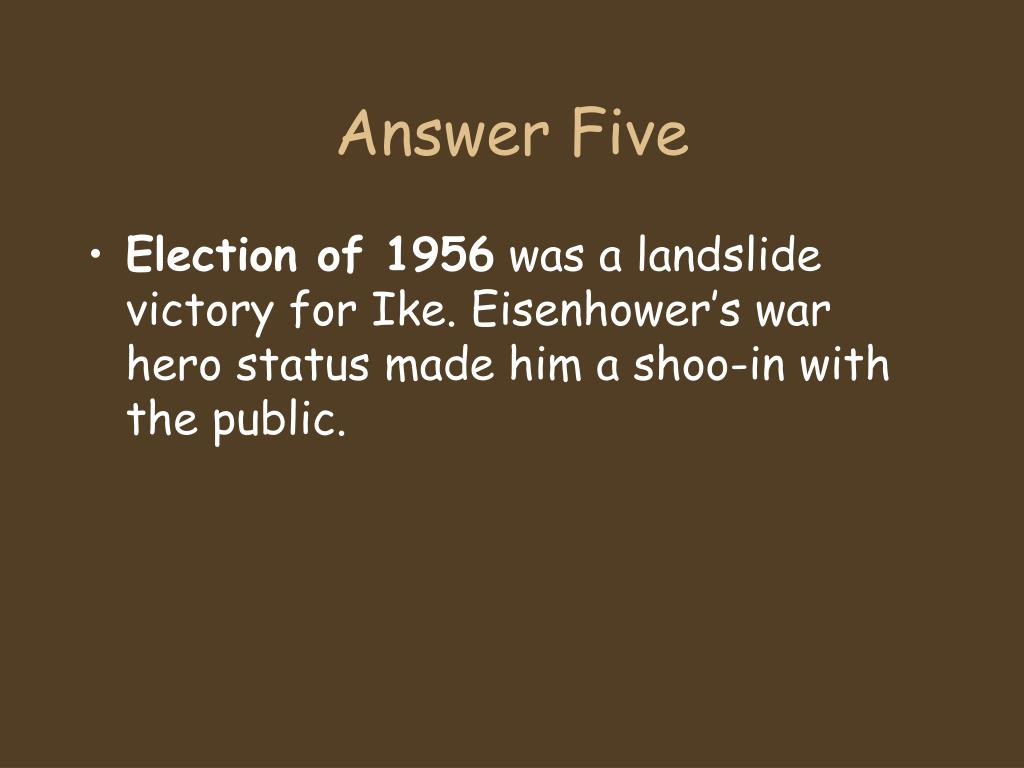 Answer Five