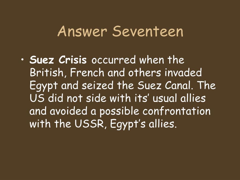 Answer Seventeen