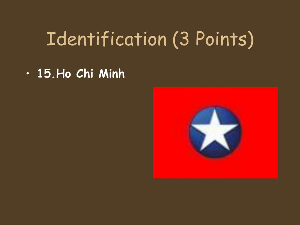 Identification (3 Points)