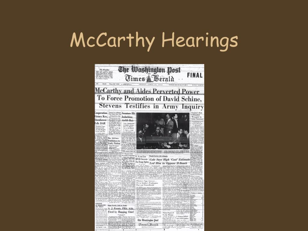 McCarthy Hearings