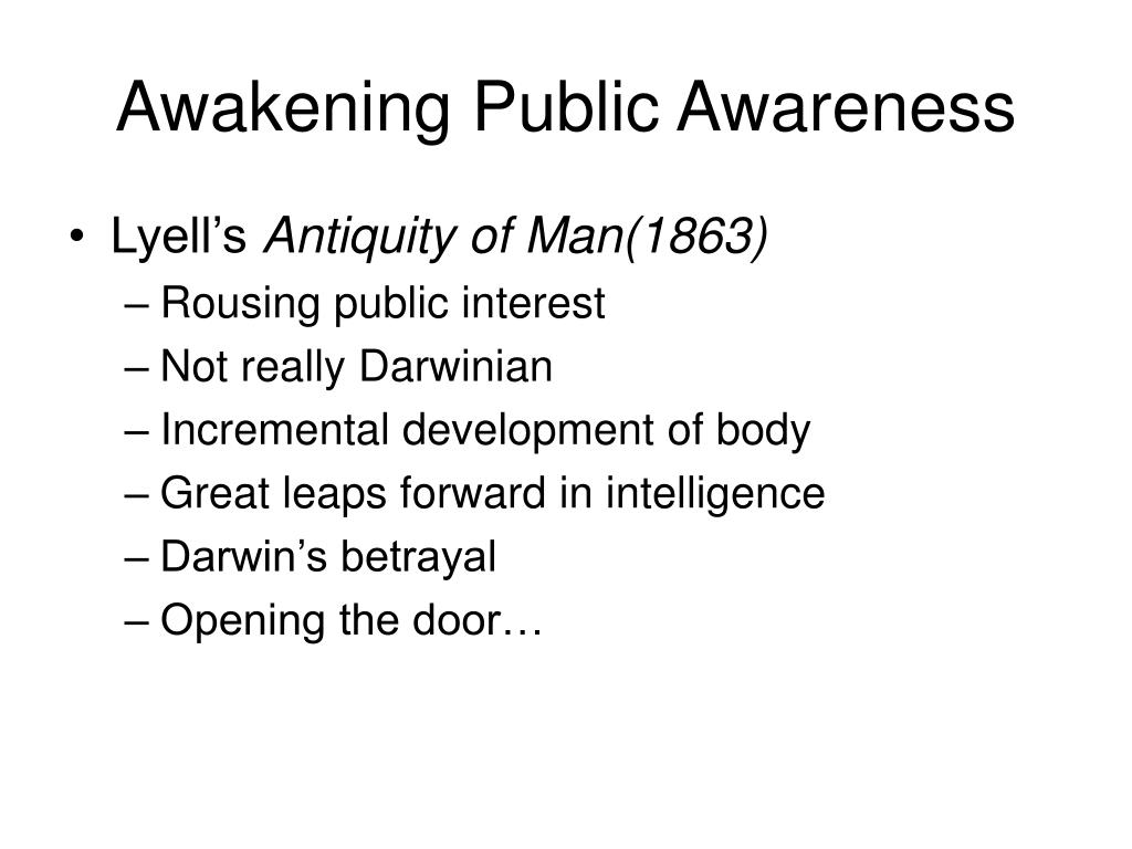 Awakening Public Awareness