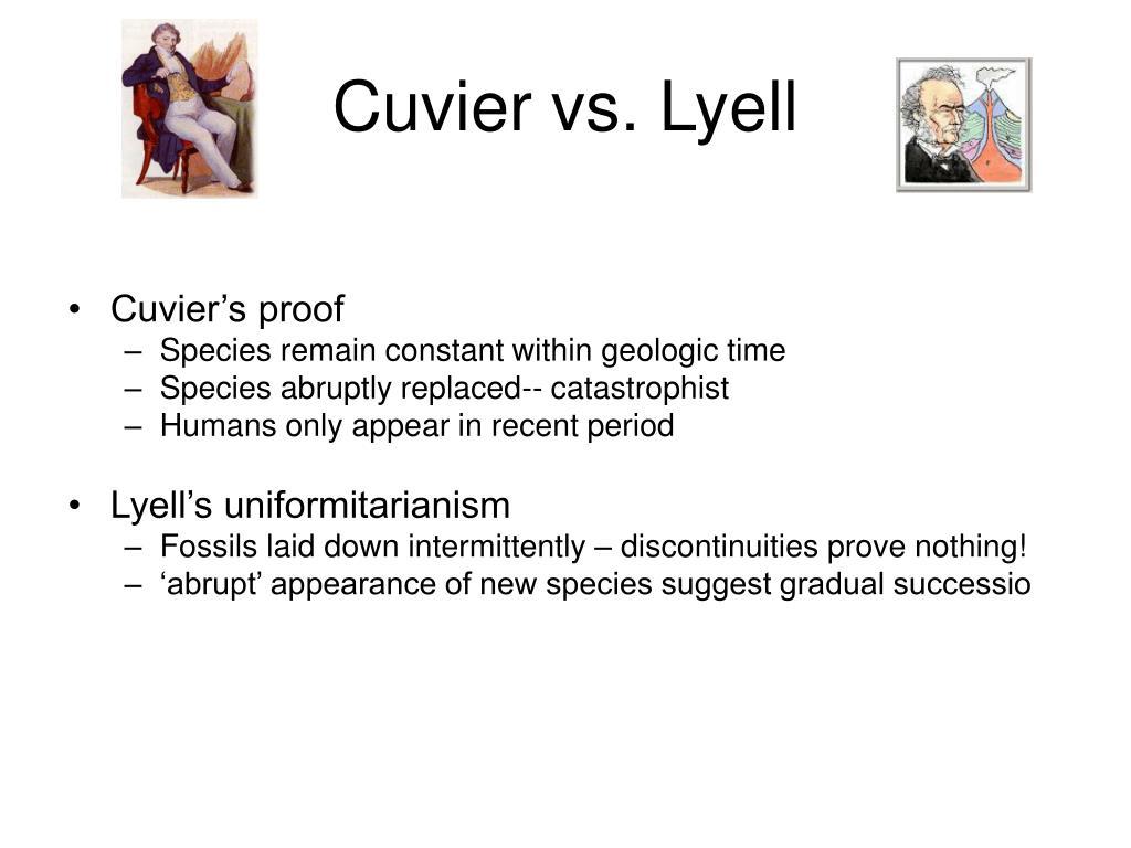 Cuvier vs. Lyell