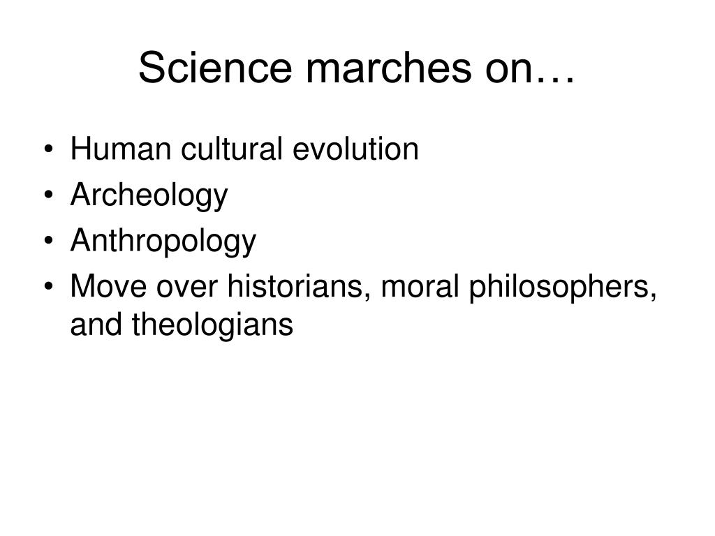 Science marches on…