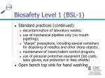 biosafety level 1 bsl 111