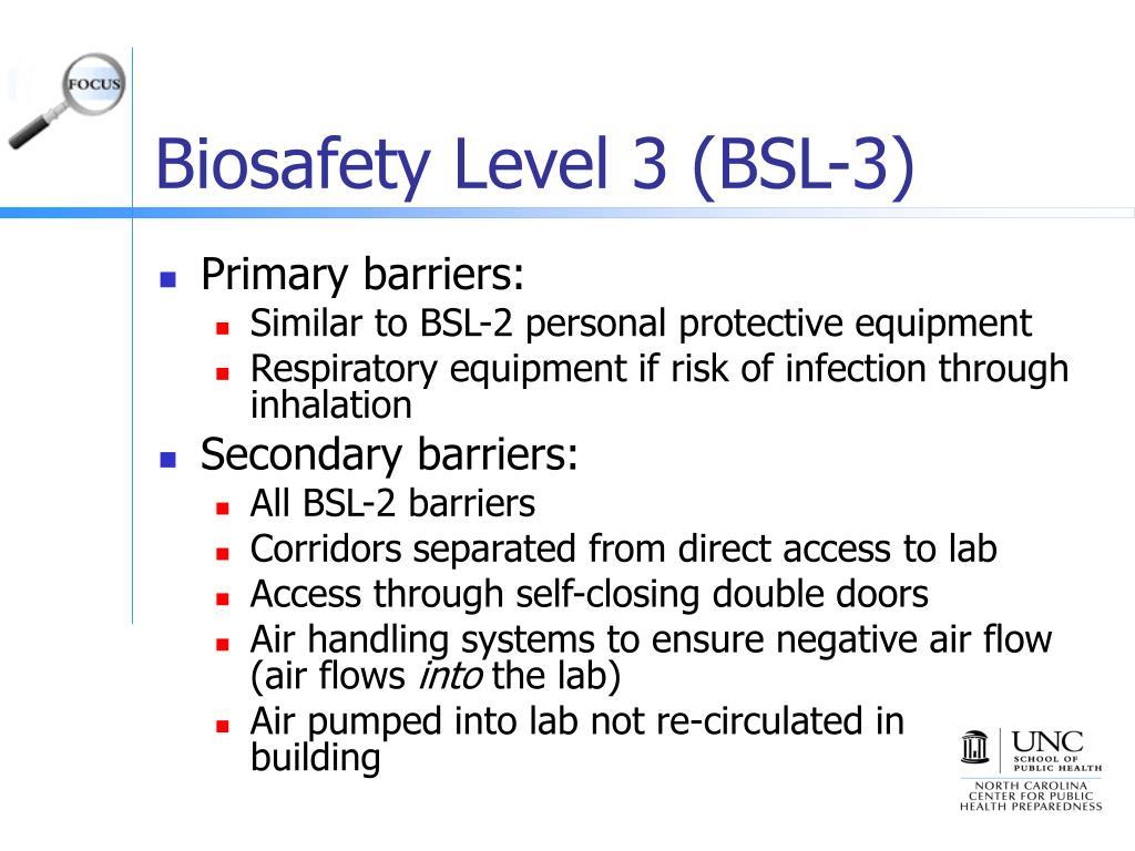Biosafety Level 3 (BSL-3)