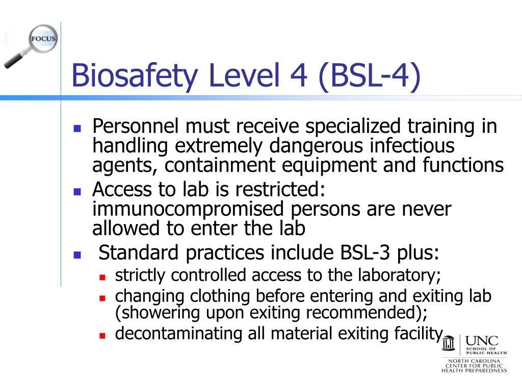 Biosafety Level 4 (BSL-4)