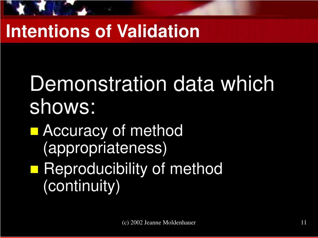 Intentions of Validation