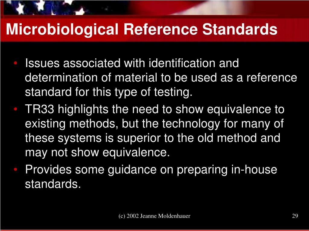 Microbiological Reference Standards