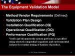 the equipment validation model