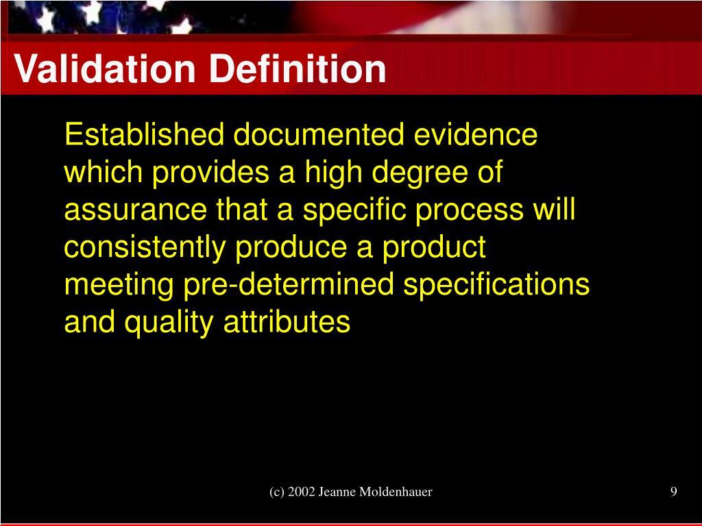 Validation Definition