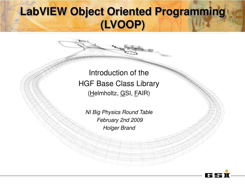LabVIEW ObjectOriented Programming FAQ  nicom