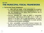q2 cont the municipal fiscal framework