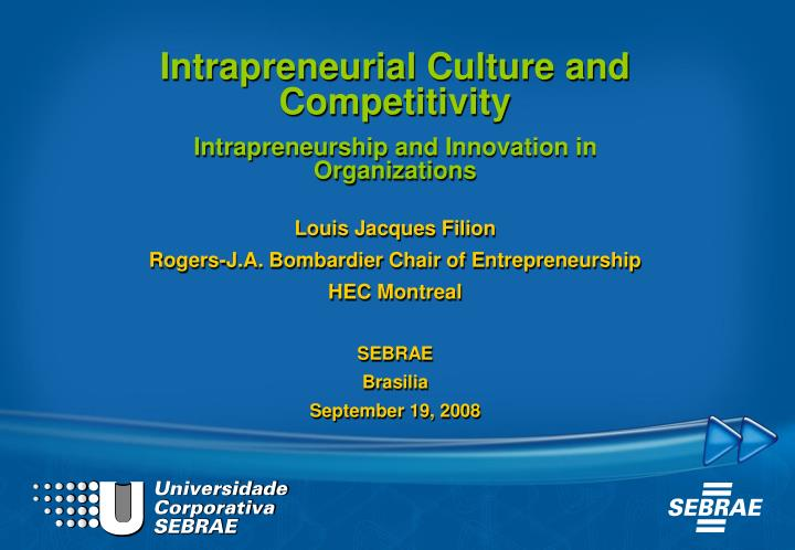 Intrapreneurial Culture and Competitivity