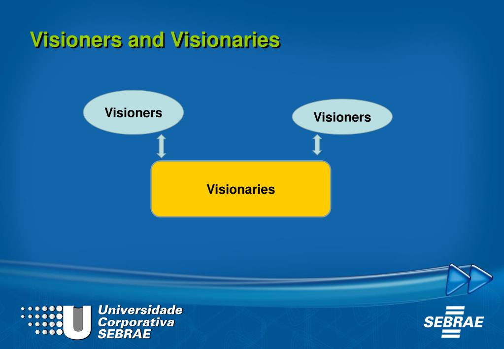 Visioners and Visionaries