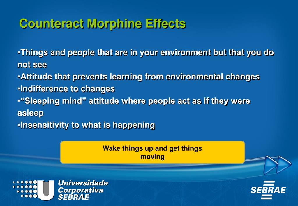 Counteract Morphine Effects