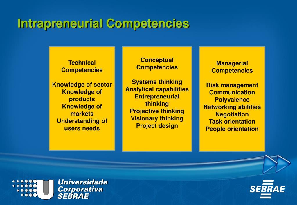 Intrapreneurial Competencies