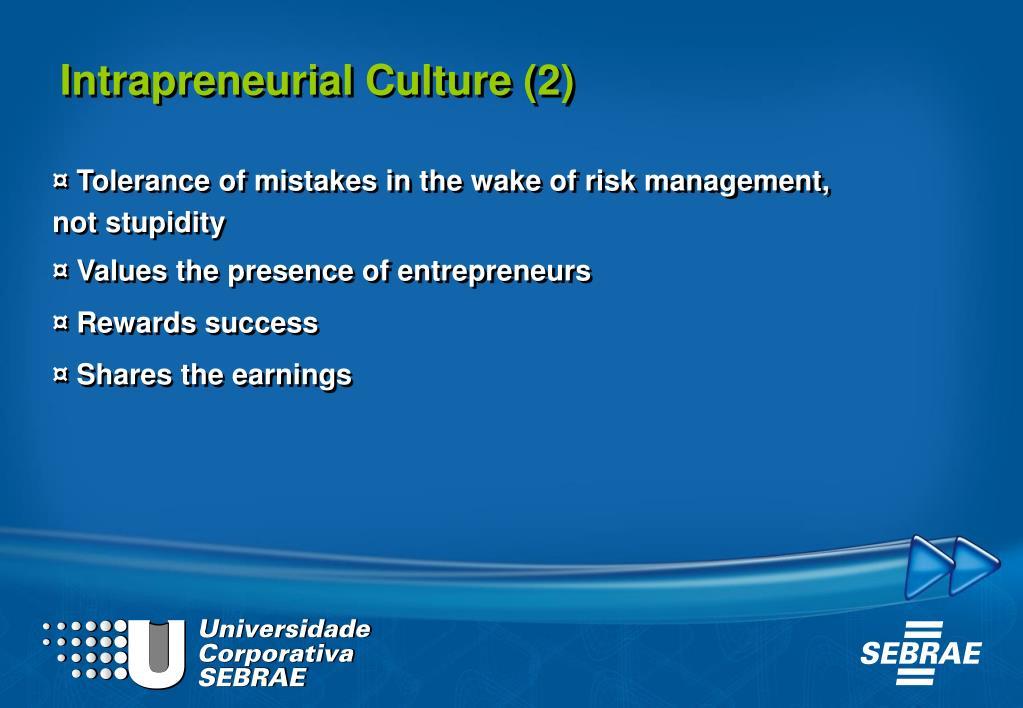 Intrapreneurial Culture (2)
