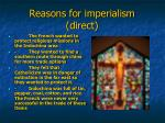 reasons for imperialism direct