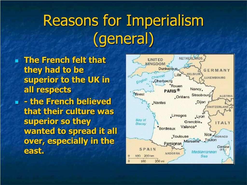Reasons for Imperialism (general)