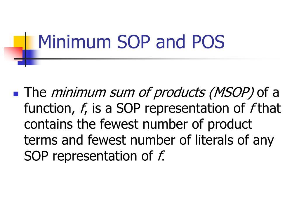 Minimum SOP and POS