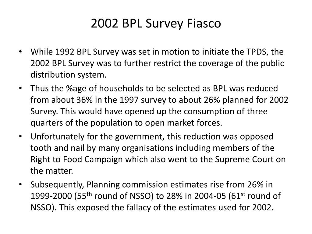 2002 BPL Survey Fiasco