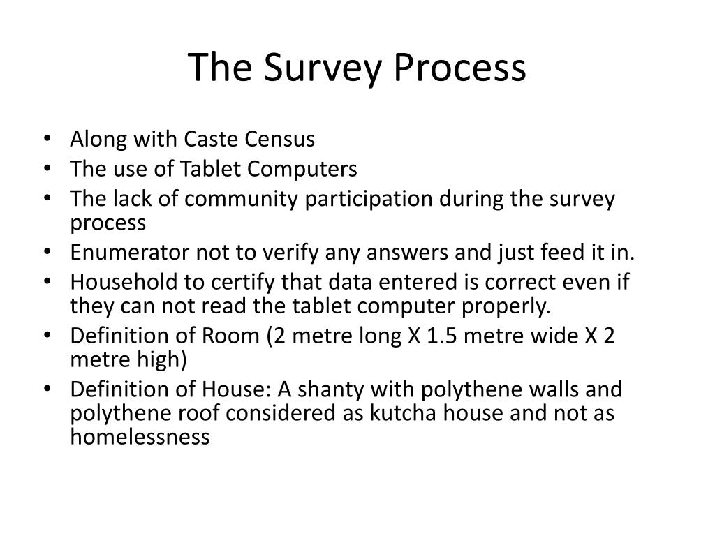 The Survey Process