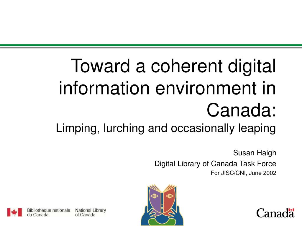Toward a coherent digital information environment in Canada:
