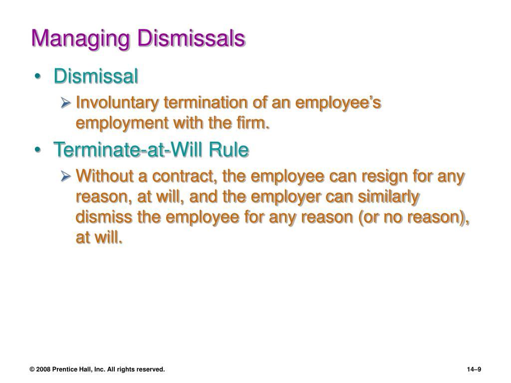 Managing Dismissals