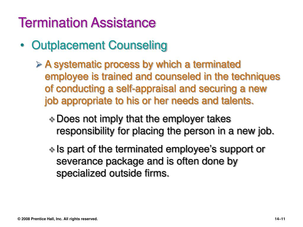 Termination Assistance