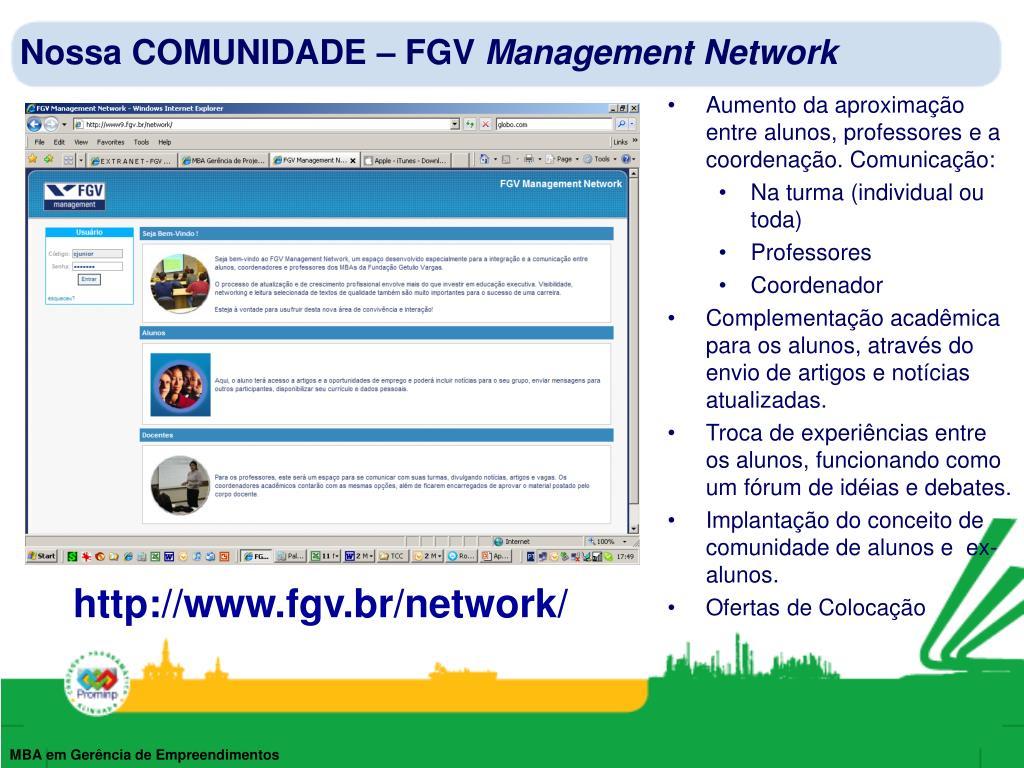 Nossa COMUNIDADE – FGV