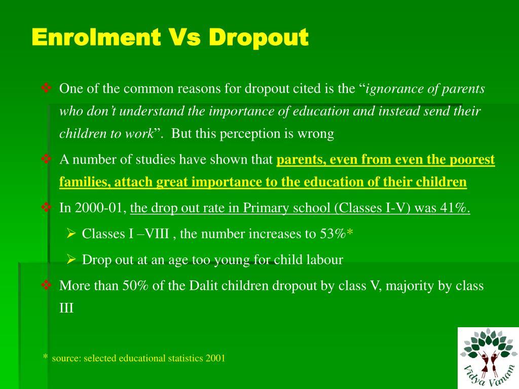 Enrolment Vs Dropout