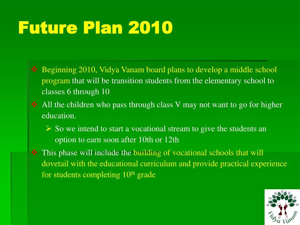 Future Plan 2010