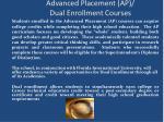 advanced placement ap dual enrollment courses