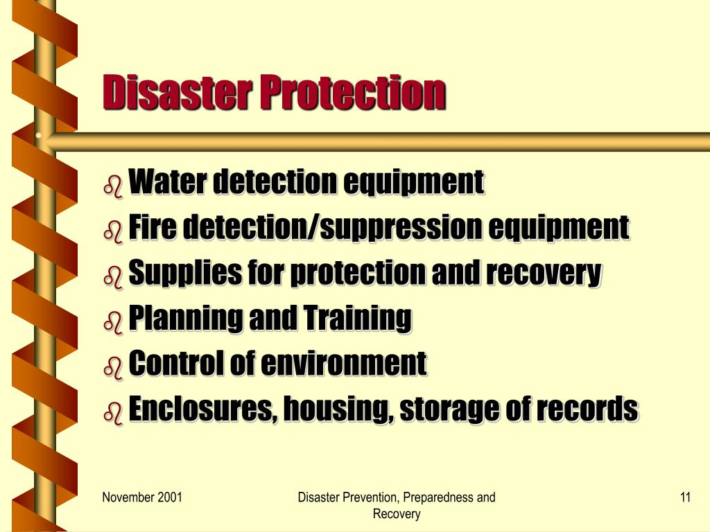 Disaster Protection