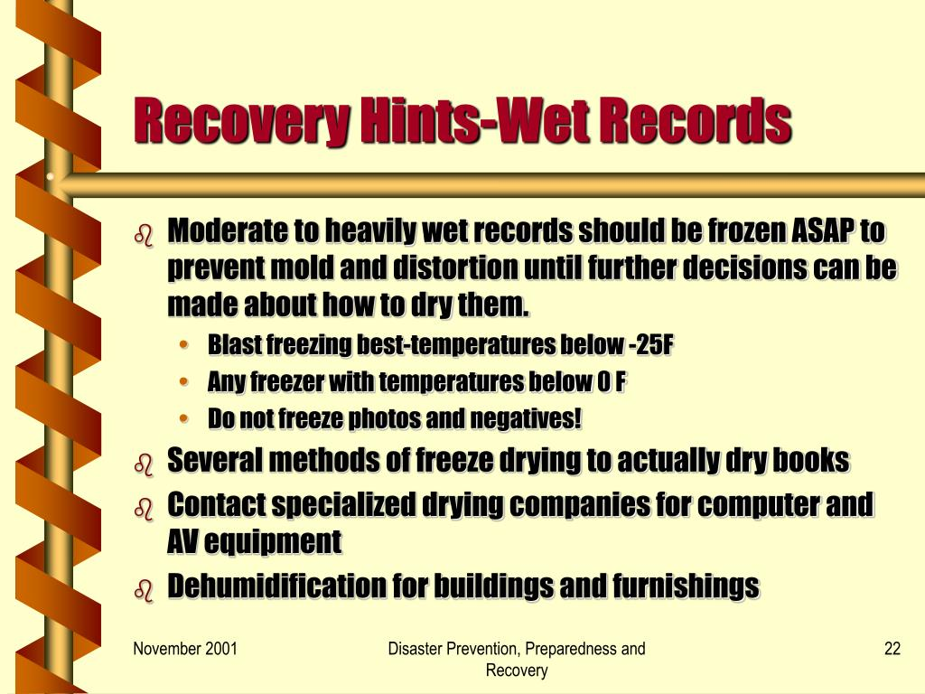 Recovery Hints-Wet Records