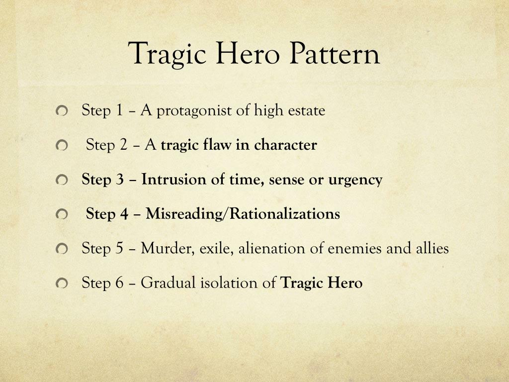 the tragic hero Tragic hero a tragic hero is an honorable protagonist with a tragic flaw, also known asa fatal flaw, which eventually leads to his or her demise according to.